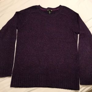Purple cable knit sweater